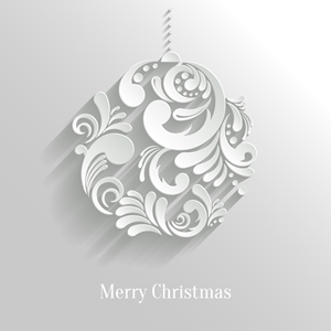 3d christmas floral art ball Logo Vector