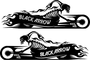 black arrow moto Logo Vector