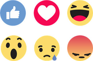 Facebook Like Reactions Logo Vector