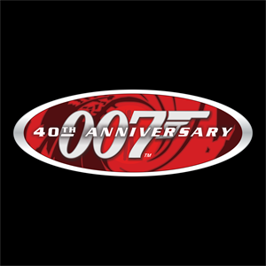 007 40th Anniversary Logo Vector
