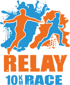 10KM Relay Race Logo Vector