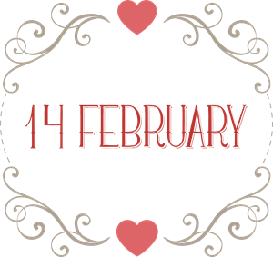 14TH OF FEBRUARY LABEL Logo Vector
