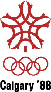 1988 Winter Olympic Games in Calgary Logo Vector