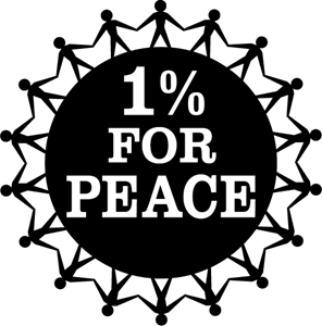 1% For Peace Logo Vector