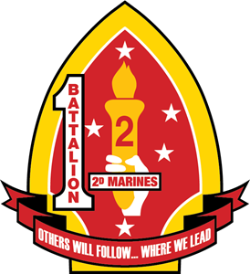 1st Battalion 2nd Marine Regiment USMC Logo Vector