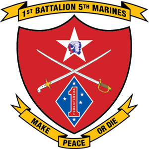 1st Battalion 5th Marine Regiment USMC Logo Vector