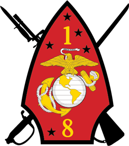 1st Battalion 8th Marine Regiment USMC Logo Vector