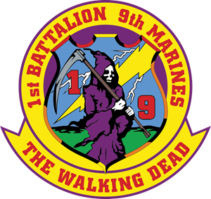 1st Battalion 9th Marine Regiment USMC Logo Vector