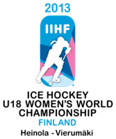 2013 IIHF World Women's U18 Championship Logo Vector