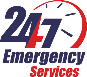 24/7 Emergency Services Logo Vector