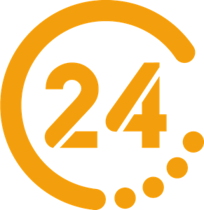 24 TV Logo Vector