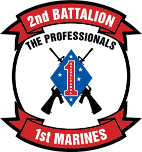 2nd Battalion 1st Marine Regiment USMC Logo Vector