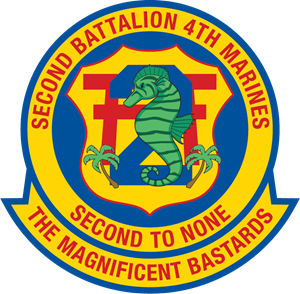 2nd Battalion 4th Marine Regiment USMC Logo Vector