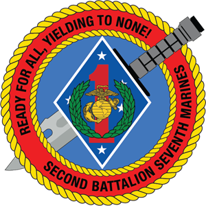 2nd Battalion 7th Marine Regiment USMC Logo Vector