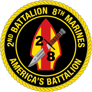 2nd Battalion 8th Marine Regiment USMC Logo Vector