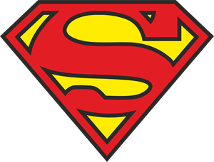 3 Colors Superman Logo Vector