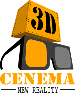 3D cinema Logo Vector