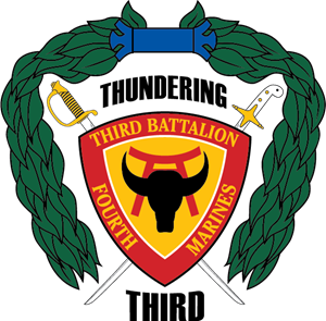 3rd Battalion 4th Marine Regiment USMC Logo Vector
