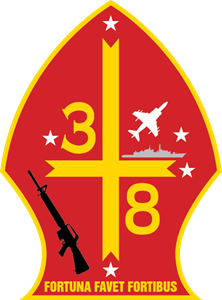 3rd Battalion 8th Marine Regiment USMC Logo Vector