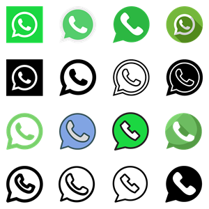 40 WhatsApp icons Logo Vector