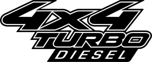 4x4 turbo diesel Logo Vector