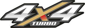 4X4 TURBO Logo Vector