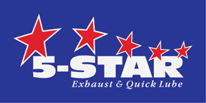 5-Star Exhaust & Quick Lube Logo Vector
