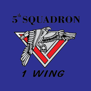 5th Squadron 1 Wing Logo Vector