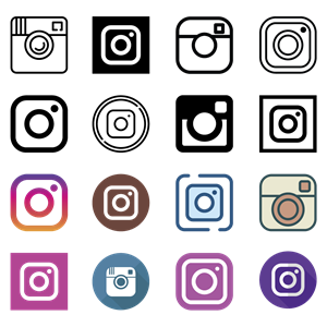 60 Instagram Icons Logo Vector