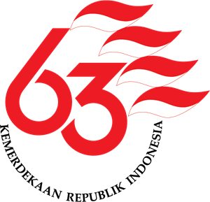 63th Independence Day of Republic of Indonesia Logo Vector