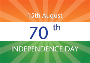70 th Indepedence Day Logo Vector