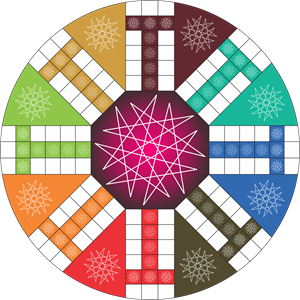 8 Player Ludo Logo Vector