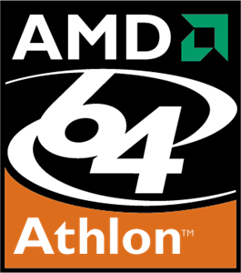 AMD 64 Athlon Logo Vector