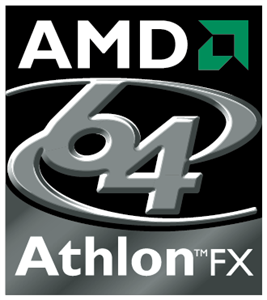 AMD 64 Athlon FX Logo Vector