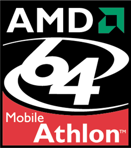AMD 64 Mobile Athlon Logo Vector