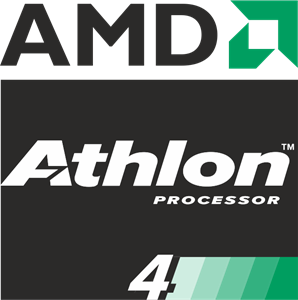 AMD Athlon 4 Processor Logo Vector