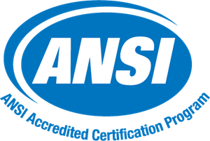 ANSI Accredited Certification Program Logo Vector