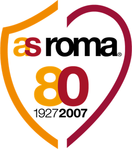 AS ROMA 80° anniversary Logo Vector