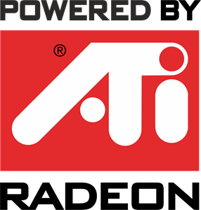 ATI Radeon (Powered By) Logo Vector