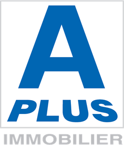 A Plus Immobilier Logo Vector