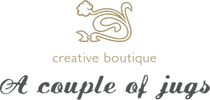 A couple of jugs Creative Agency Logo Vector