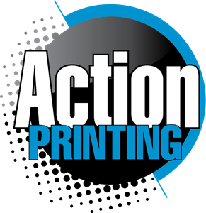 Action Printing Logo Vector