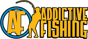 Addictive Fishing Logo Vector
