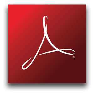 Adobe Reader Logo Vector