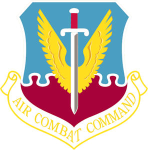 Air Combat Command Logo Vector