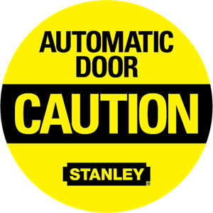 Automatic Door Caution Logo Vector