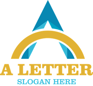 A Letter Company Logo Vector