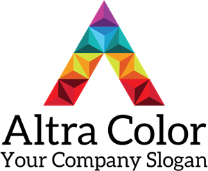 A Letter Made of Polygons Logo Vector