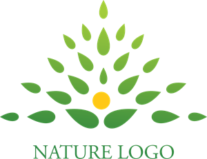 A Letter Nature Logo Vector