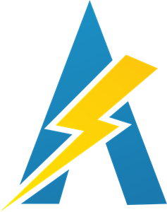 A Letter Power Logo Vector